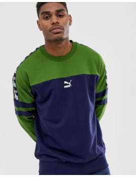 Puma Xtg Sweat In Navy by Puma