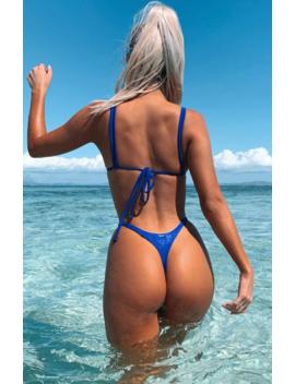 Santa Monica Bikini Top Electric Blue by White Fox