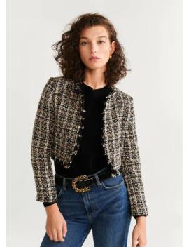 Karierte Tweed Jacke by Mango