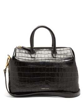 Travel Mini Crocodile Embossed Leather Bag by Mansur Gavriel