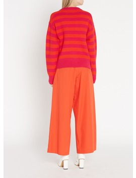 Round Neck Striped Sweater Orange by Tara Jarmon