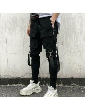 Techwear Men Big Pockets Casual Cargo Pants Fashion Hip Hop Punk Harem Jogger by Unbranded