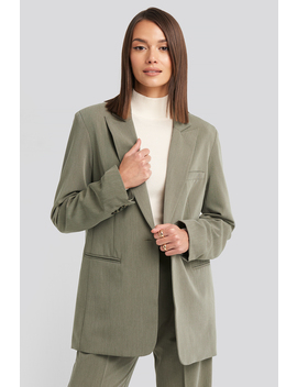 Long Fit Blazer Groen by Nakdclassic