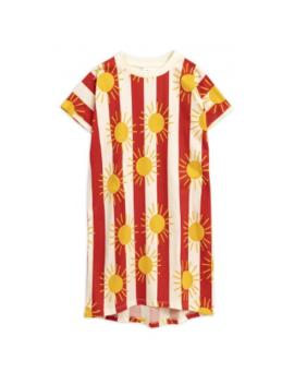 Red Sun Striped T Shirt Dress Red Sun Striped T Shirt Dress by Mini Rodini