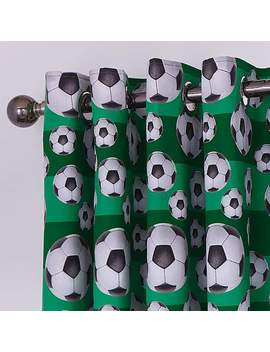 Football Blackout Eyelet Curtains by Dunelm