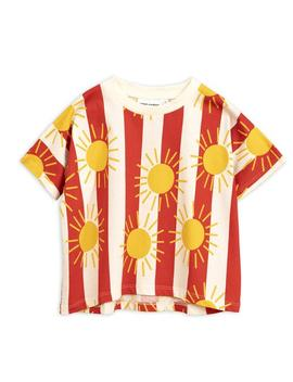 Sun Stripe Aop Ss Tee Red Sun Stripe Aop Ss Tee Red by Mini Rodini