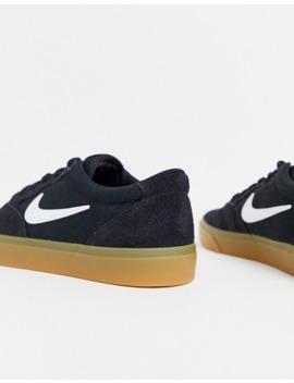 Nike Sb – Chron – Schwarze Sneaker Aus Canvas Und Wildleder by Asos