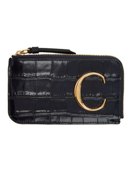 Navy 'chloé C' Small Purse Card Holder by ChloÉ