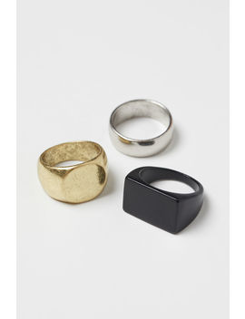3er Pack Metallringe by H&M
