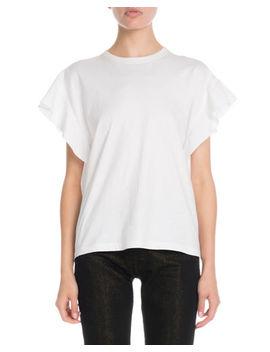 Victoria Victoria Beckham Flute Sleeve Cotton T Shirt by Victoria Victoria Beckham