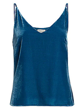 Gabriella Velvet Tank Top by L'agence