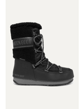 Shell, Rubber And Wool Snow Boots by Moon Boot