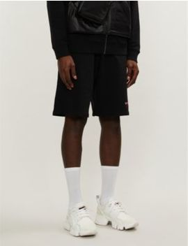 Logo Embroidered Cotton Jersey Shorts by Givenchy