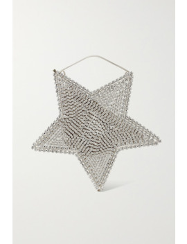 Cielo Crystal Embellished Silver Tone Tote by Rosantica