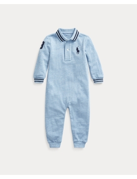 Cotton Mesh Polo Coverall by Ralph Lauren