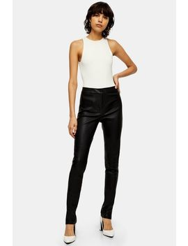 **Black Skinny Leather Trousers By Topshop Boutique by Topshop