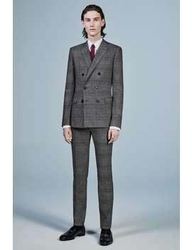 Pantaloni Slim Fit A Quadri by Zara