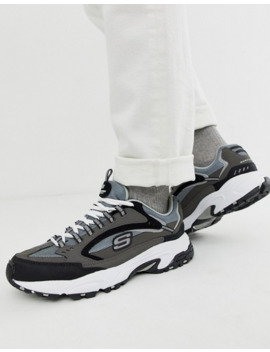 Skechers D'lites Cutback Chunky SneakersI Grå Sort by Asos
