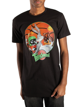 Men's And Big Men's Space Jam Looney Tunes Tune Squad Trap Art Graphic T Shirt by Looney Tunes