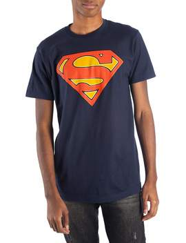 Men's And Big Men's Superman Dc Comics Glow In The Dark Logo Graphic T Shirt by Dc Comics