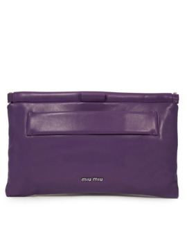 Miu Miu Nappa Leather Clutch   Purple by Miu Miu
