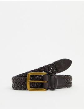 Polo Ralph Lauren Leather Braid Belt In Brown by Polo Ralph Lauren