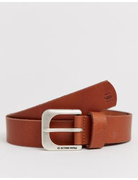 G Star Zed Leather Belt In Tan by G Star
