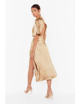Make Your Smooth Satin Midi Dress by Nasty Gal