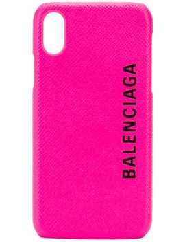 Logo Print I Phone X Case by Balenciaga