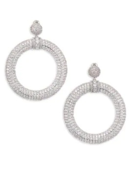 Pave Drama Hoop Earrings by Fallon