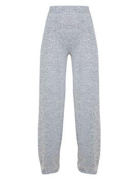 Grey Marl Wide Leg Trouser by Prettylittlething