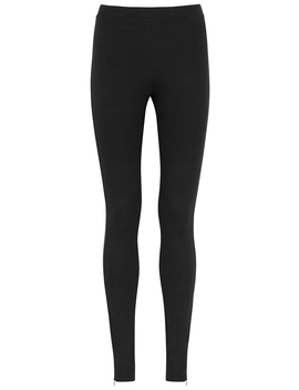 Cork Black Jersey Leggings by Totême
