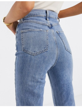 New Look Tall Relaxed Skinny Jeans In Mid Blue by New Look