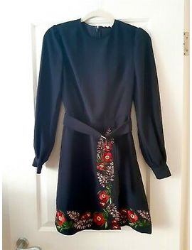 Ted Baker Kirstenbosch Wrap Dress Dark Blue Uk 6 (Size 0)  by Ebay Seller