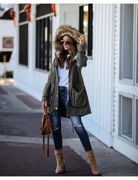 Steven Pocketed Faux Fur Hooded Jacket by Vici