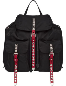 Studded Multi Pockets Backpack by Prada