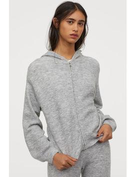 Fine Knit Hooded Jacket by H&M