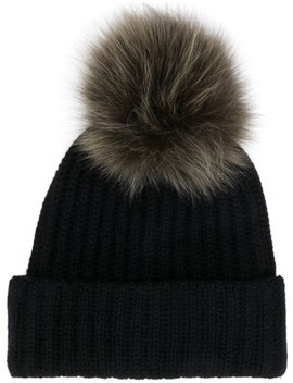 Fur Puff Beanie by Yves Salomon Accessories