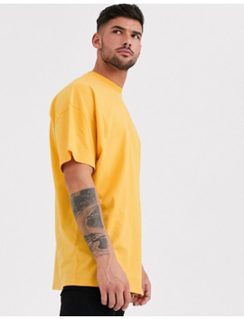 Asos Design Oversized Longline T Shirt With Crew Neck In Yellow by Asos Design