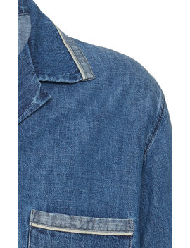 Denim Shirt Jacket by Maison Margiela