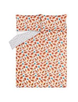 Papaya Easy Care Reversible Duvet Set by Asda