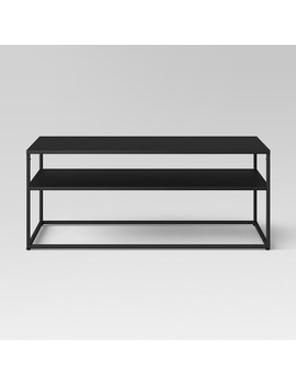 Glasgow Metal Coffee Table Black   Project 62™ by Project 62
