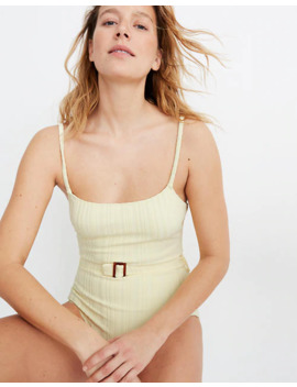 Solid & Striped® Nina Belted One Piece Swimsuit by Madewell