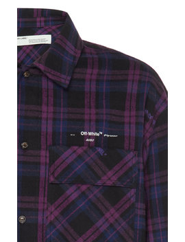 Logo Checked Flannel Shirt by Off White C/O Virgil Abloh