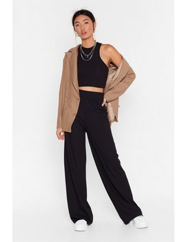 Ensemble Côtelé Crop Top & Pantalon Large Esprit D'équipe by Nasty Gal
