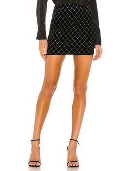 Odyssa Mini Skirt In Black & Silver by Superdown