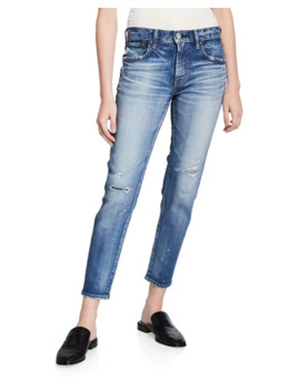Lancaster Distressed Skinny Jeans by Moussy Vintage