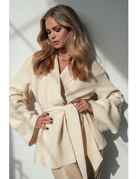Kimono Blazer White by Hannaschonbergxnakd