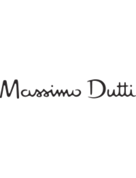 Zwarte Jurk Met Confettiprint by Massimo Dutti