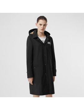 Detachable Hood Shape Memory Taffeta Car Coat by Burberry